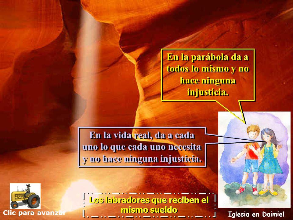 Clic para avanzar Iglesia en Daimiel Los labradores que reciben el mismo sueldo La parábola de hoy es muy interesante para entender la gracia. Dios da