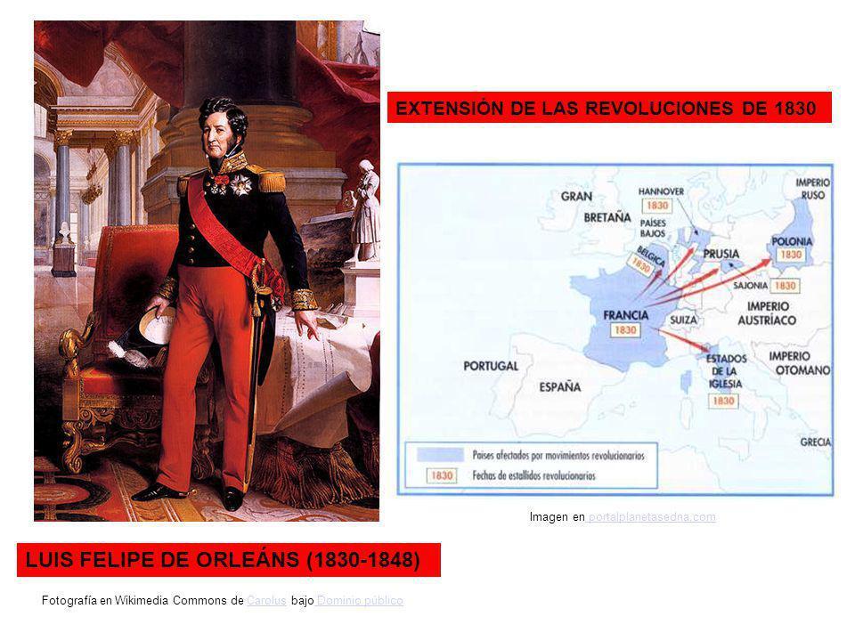 LUIS FELIPE DE ORLEÁNS (1830-1848) EXTENSIÓN DE LAS REVOLUCIONES DE 1830 Fotografía en Wikimedia Commons de Carolus bajo Dominio públicoCarolus Domini