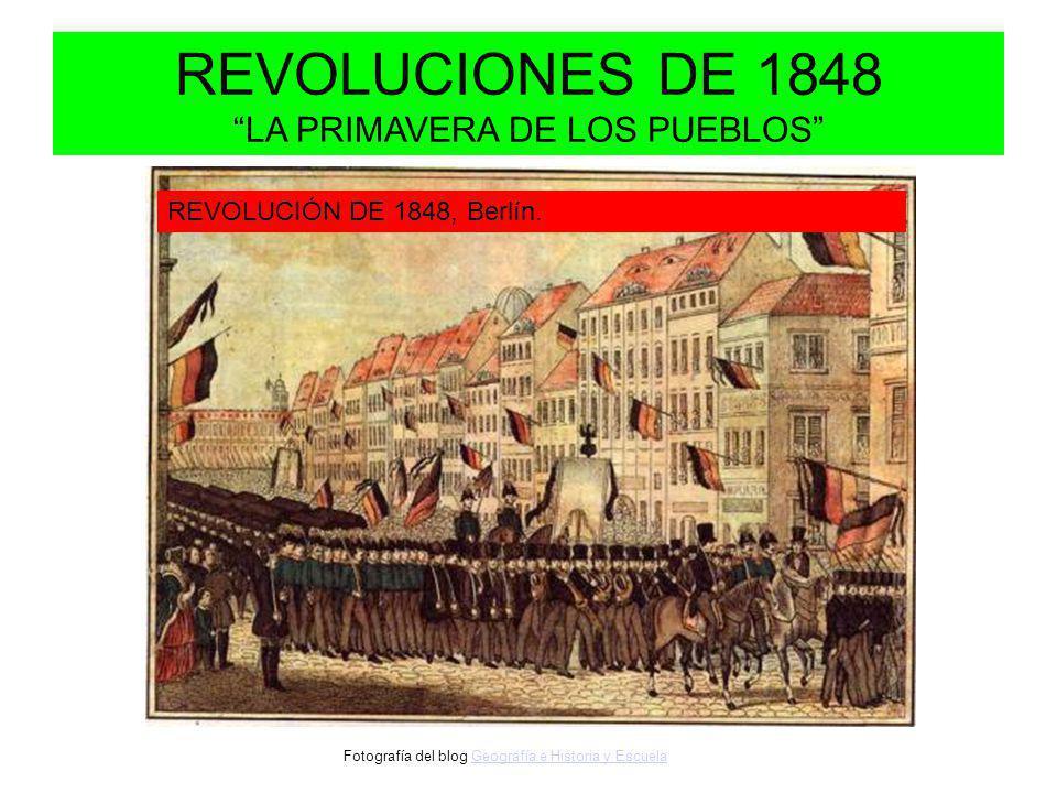 REVOLUCIONES DE 1848 LA PRIMAVERA DE LOS PUEBLOS REVOLUCIÓN DE 1848, Berlín.