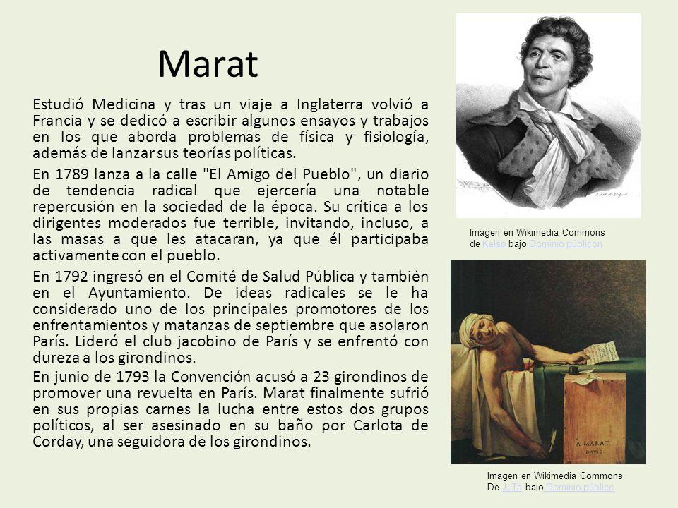 Marat Estudió Medicina y tras un viaje a Inglaterra volvió a Francia y se dedicó a escribir algunos ensayos y trabajos en los que aborda problemas de física y fisiología, además de lanzar sus teorías políticas.