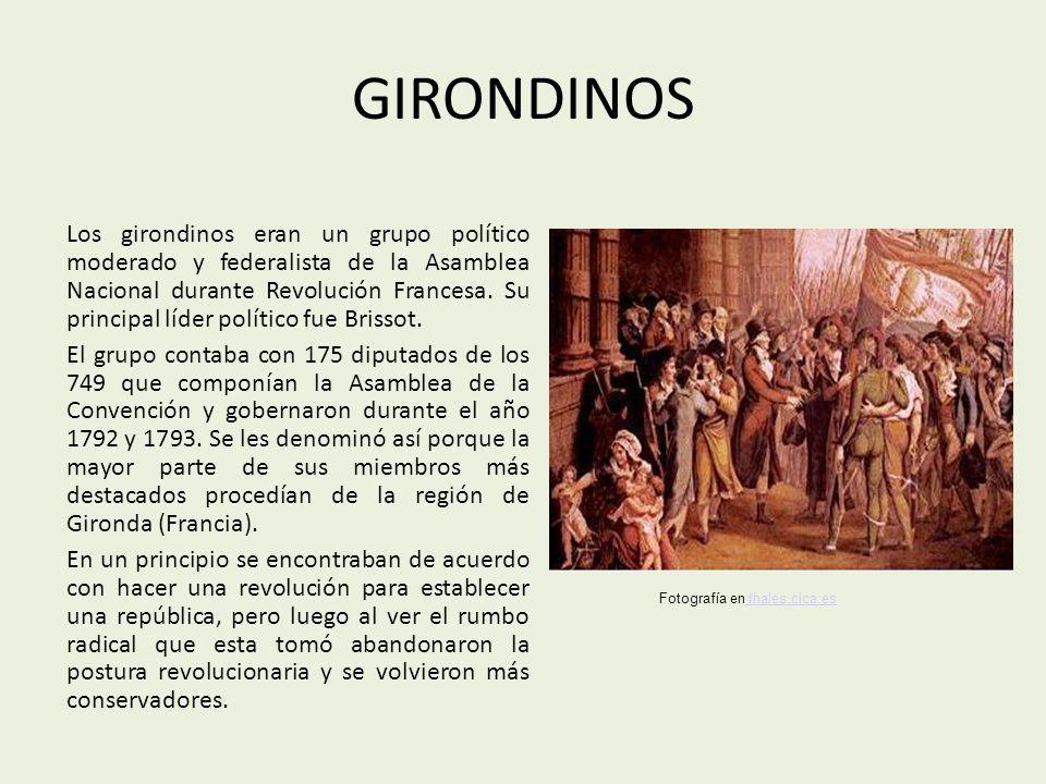 La mayoría de los girondinos pertenecía a la burguesía ilustrada.