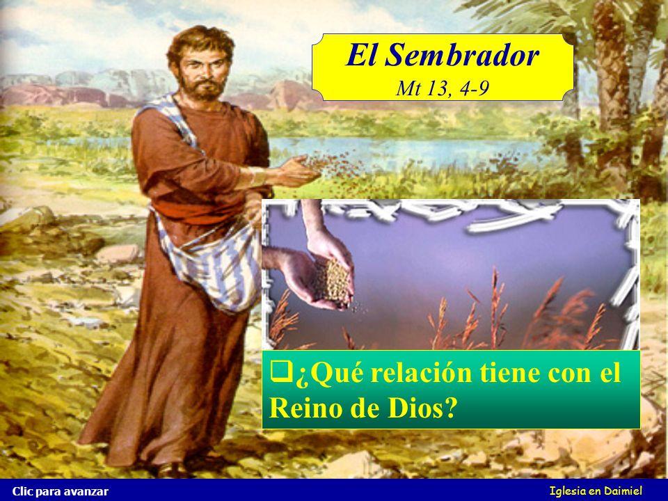 El Sembrador Mt 13, 4-9 Iglesia en Daimiel Y parte cayó en tierra buena, y dio fruto, unas el ciento, otras sesenta, y otras treinta.
