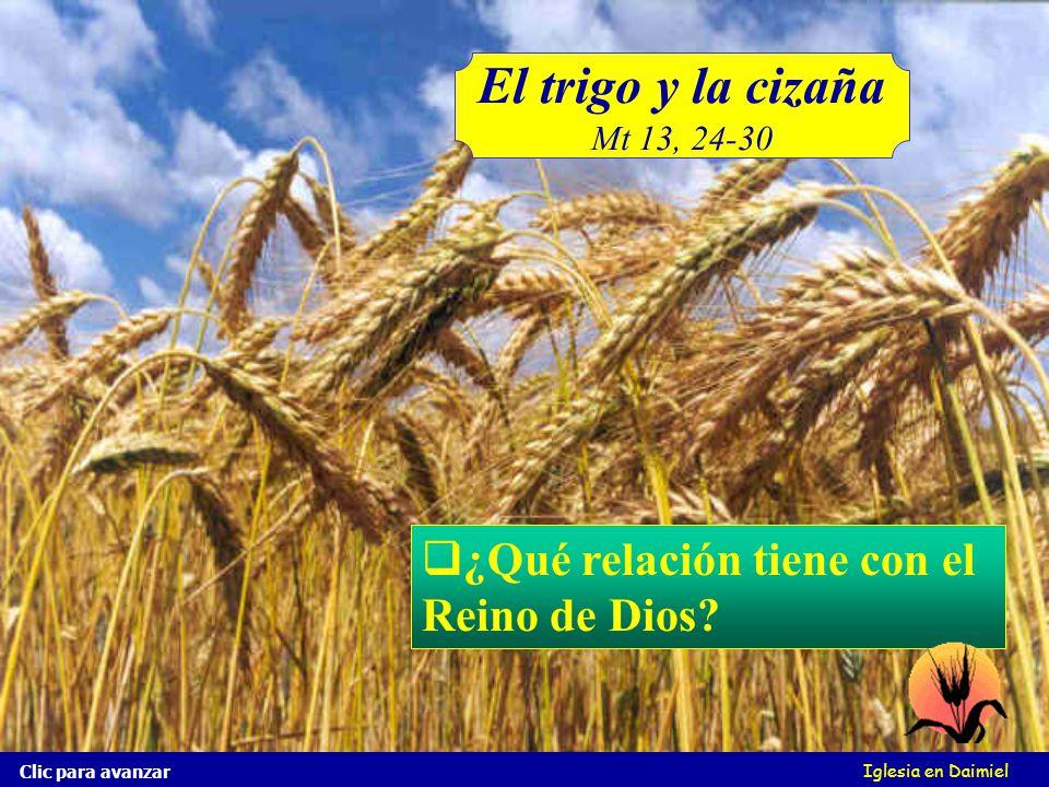 Iglesia en Daimiel Clic para avanzar Dejad crecer juntamente lo uno y lo otro hasta la siega; y al tiempo de la siega yo diré a los segadores: Coged p