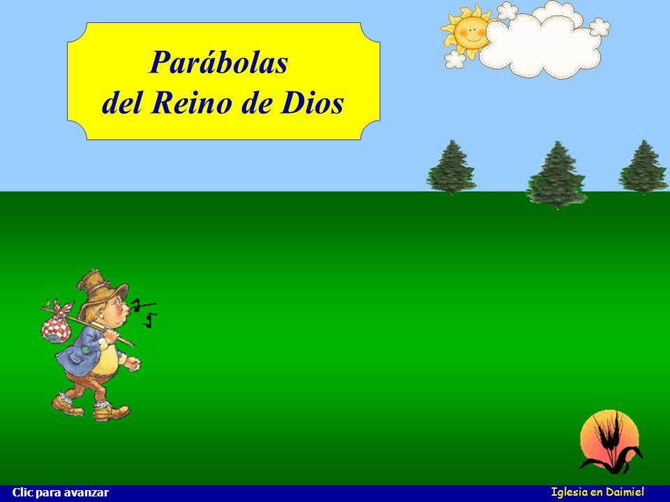 Iglesia en Daimiel ¿Qué es la cizaña? ¿Quién la siembra? ¿Qué es el trigo? Clic para avanzar El trigo y la cizaña Mt 13, 24-30 ¿Sabes distinguirlos? ¿