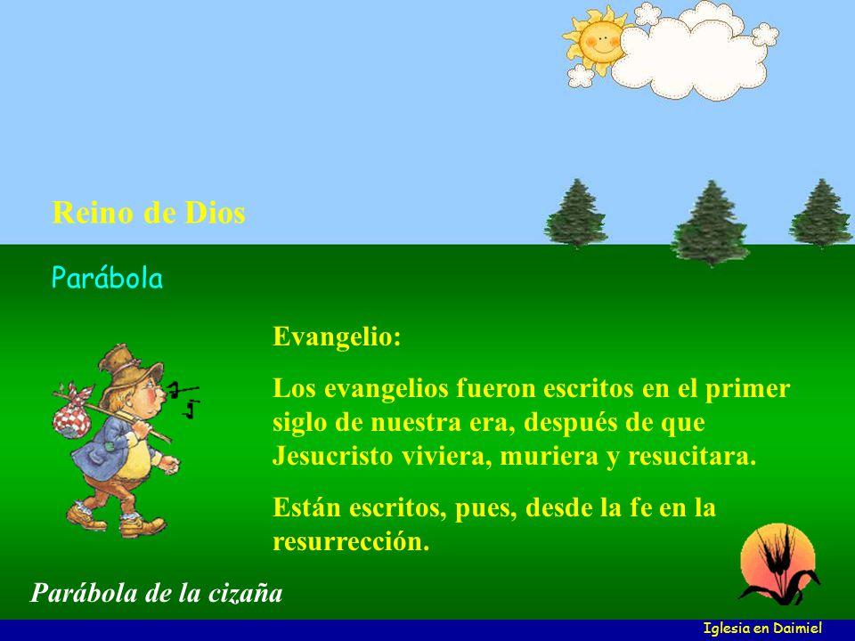 Evangelio: Los evangelios fueron escritos en el primer siglo de nuestra era, después de que Jesucristo viviera, muriera y resucitara.