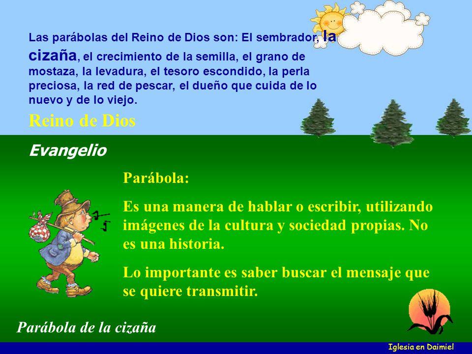 Parábola: Es una manera de hablar o escribir, utilizando imágenes de la cultura y sociedad propias.