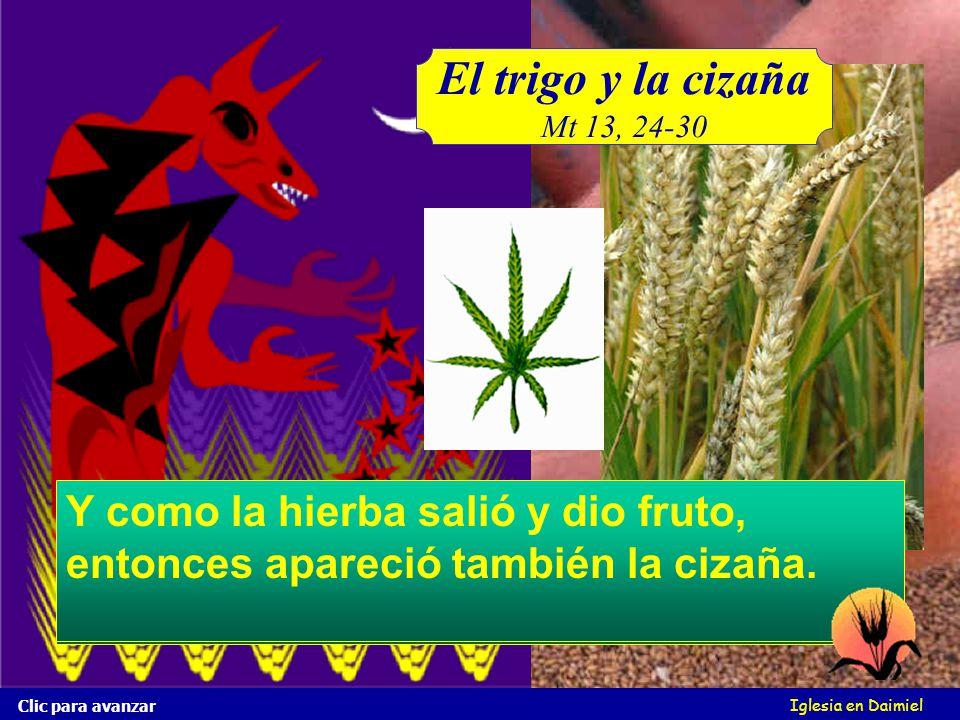 Iglesia en Daimiel El trigo y la cizaña Mt 13, 24-30 Clic para avanzar