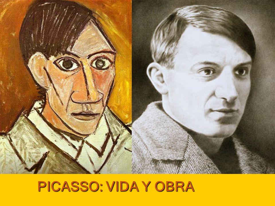 Obra: el arte de picasso Pintor más famoso del siglo XX, también trabajó la escultura.