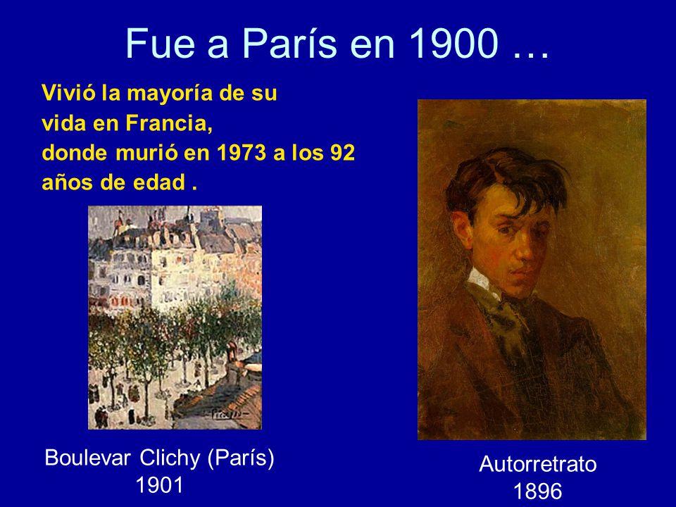 Fue a París en 1900 … Vivió la mayoría de su vida en Francia, donde murió en 1973 a los 92 años de edad.