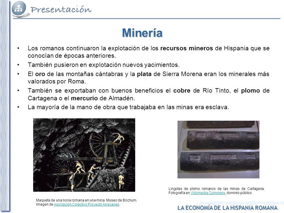 1. Minería Maqueta de una noria romana en una mina. Museo de Bochum. Imagen de Asociación Colectivo Proyecto Arrayanes.Asociación Colectivo Proyecto A