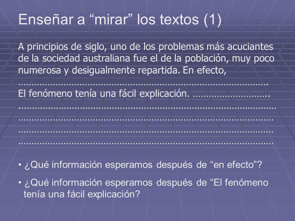 Enseñar a mirar los textos (2) 3.
