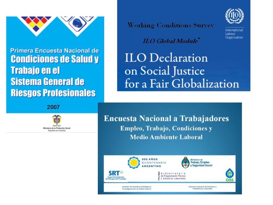 I ECCTS: objetivos y diseño Objetivos: –Definir y evaluar las políticas y programas en Seguridad y Salud en el Trabajo –Analizar los efectos de las condiciones de trabajo y empleo sobre la salud de los trabajadores.
