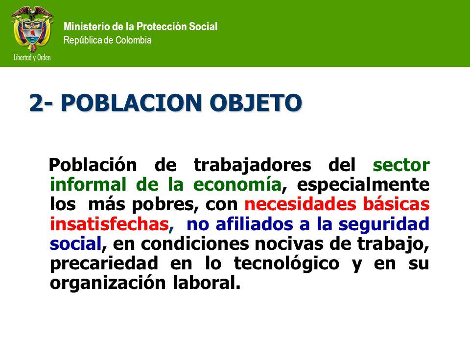Ministerio de la Protección Social República de Colombia MERCADO LABORAL P.