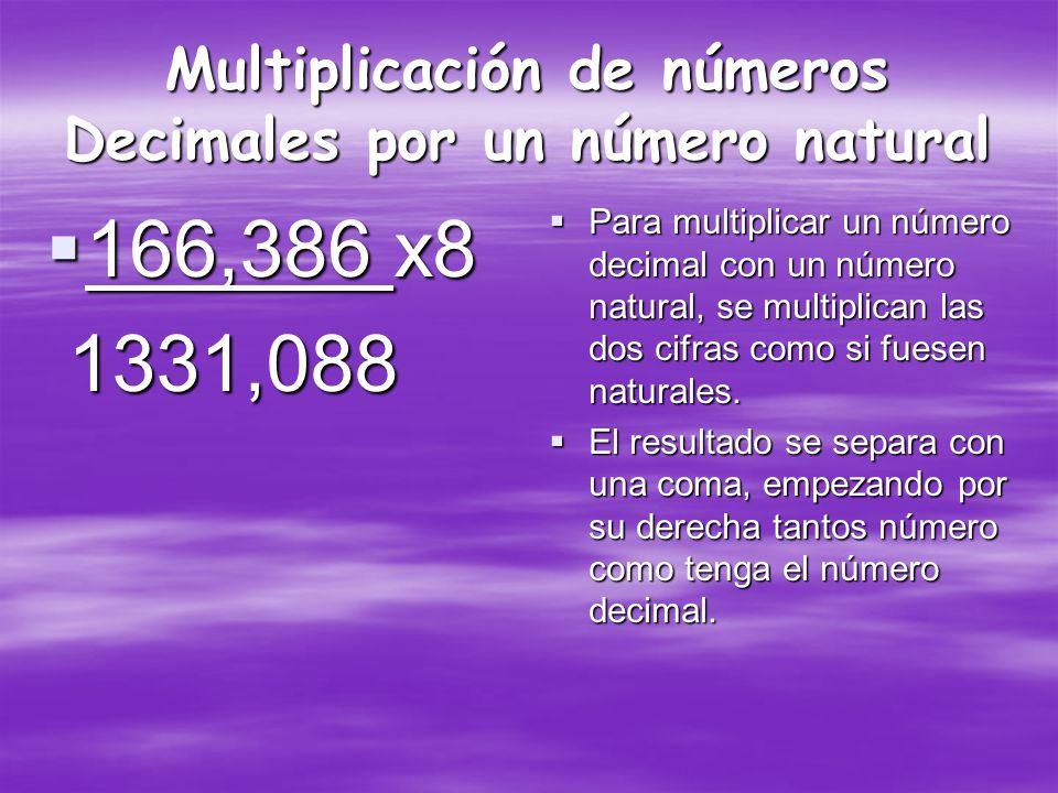 Sustracción en números Decimales 5,15 - 1,12 4,03 5,15 - 1,12 4,03 Para restar números decimales se deben colocar en una misma columna, haciendo coincidir las comas; Debe colocarse el mayor arriba, si no tuviese la misma cantidad de números se agrega con ceros.