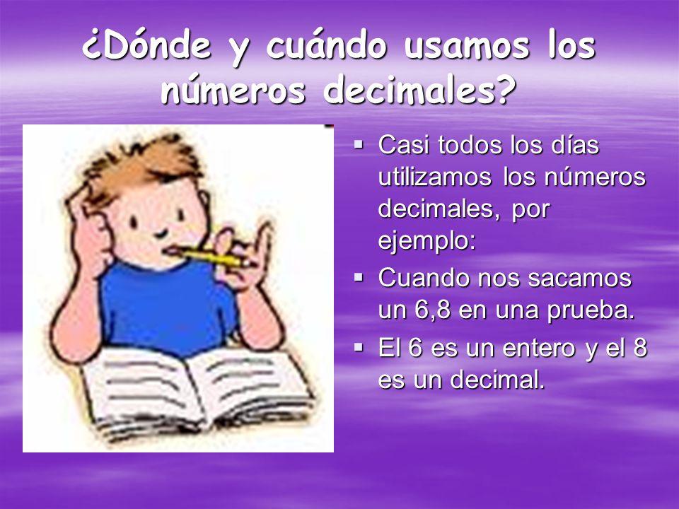 ¿Qué son los números decimales.