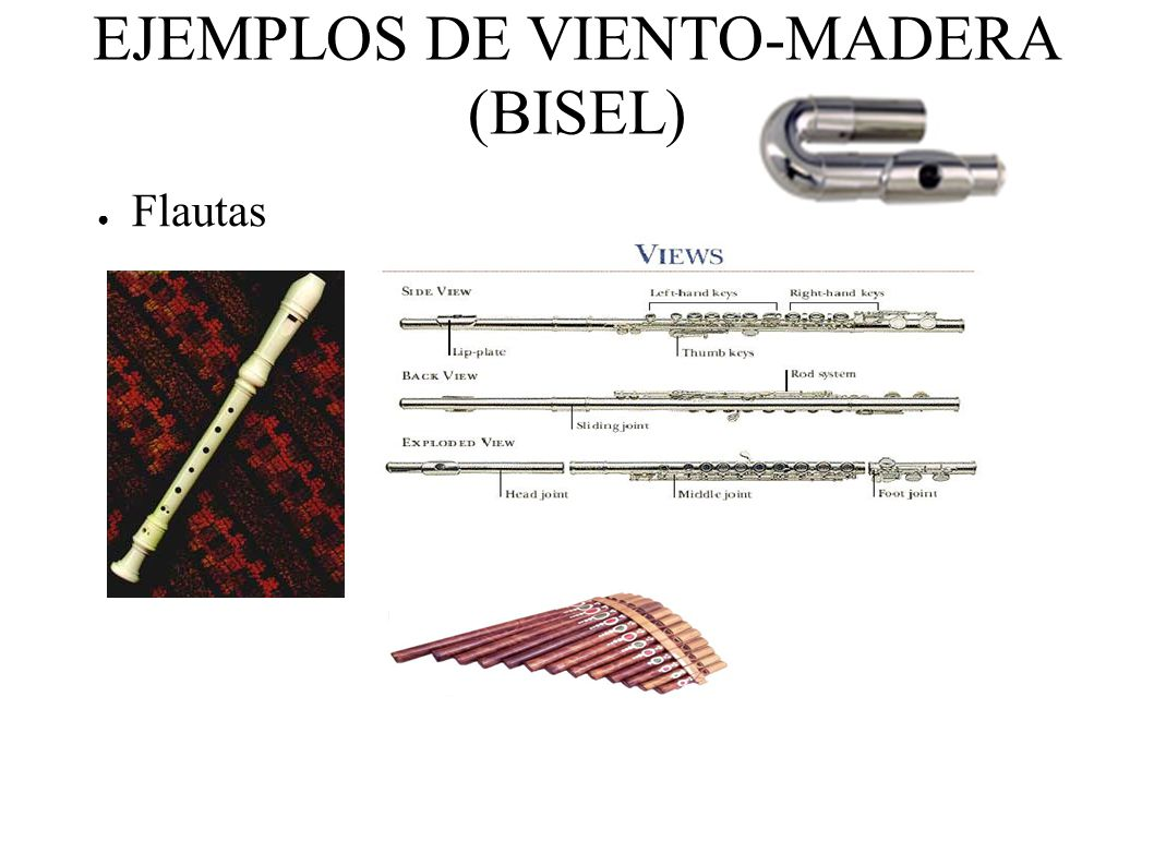 EJEMPLOS DE VIENTO-MADERA (BISEL) Flautas