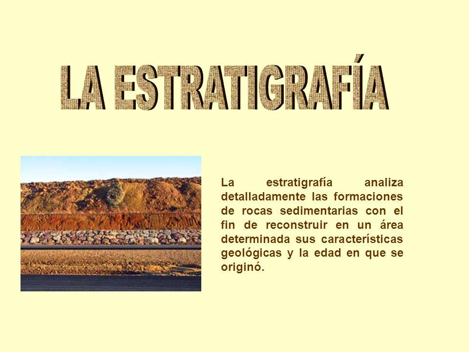 La estratigrafía analiza detalladamente las formaciones de rocas sedimentarias con el fin de reconstruir en un área determinada sus características ge