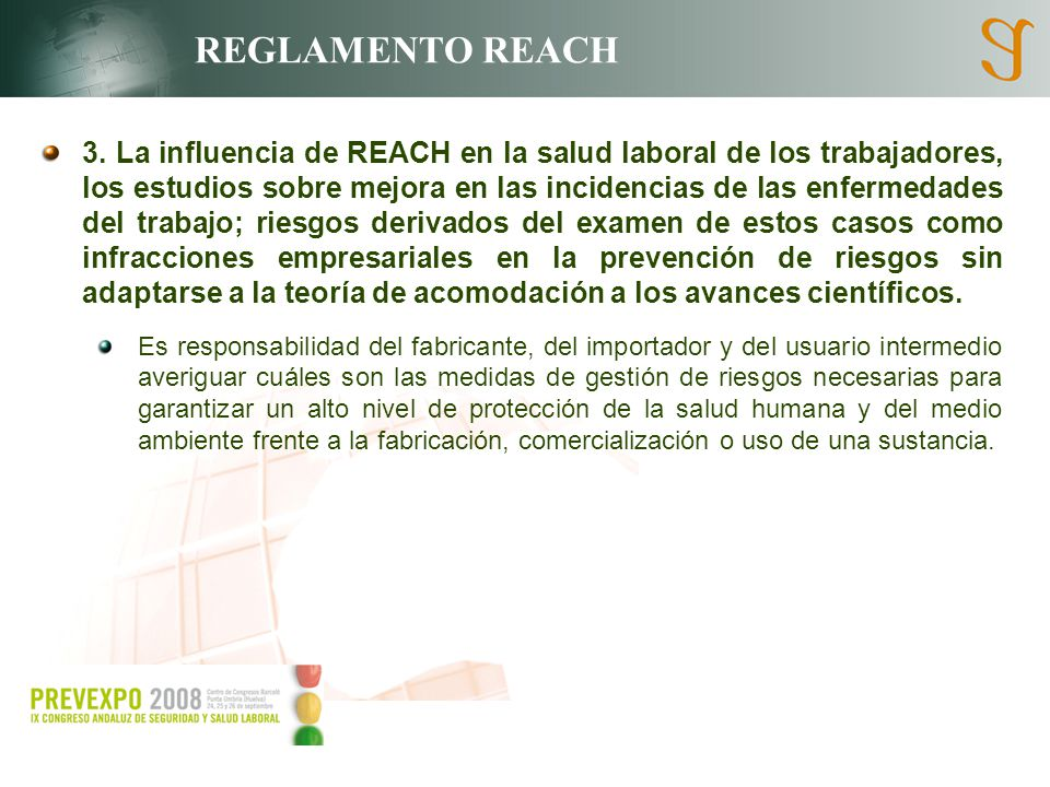 3. La influencia de REACH en la salud laboral de los trabajadores, los estudios sobre mejora en las incidencias de las enfermedades del trabajo; riesg