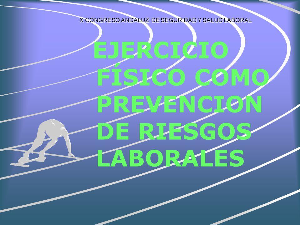 X CONGRESO ANDALUZ DE SEGURIDAD Y SALUD LABORAL Empresa: Reduce costes por absentismo, accidentes, enfermedades.Reduce costes por absentismo, accidentes, enfermedades.