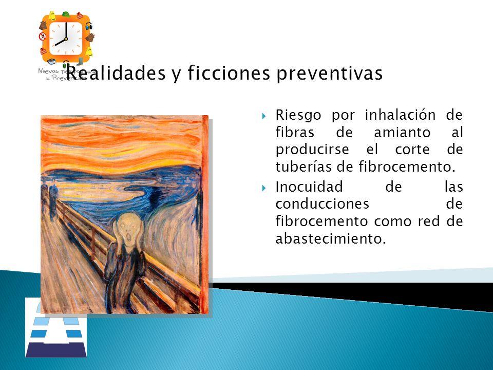 Realidades y ficciones preventivas Riesgo por inhalación de fibras de amianto al producirse el corte de tuberías de fibrocemento. Inocuidad de las con