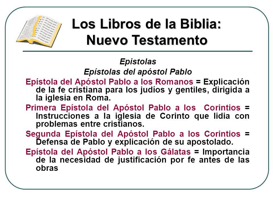 Epistolas Epístolas del apóstol Pablo Epístola del Apóstol Pablo a los Romanos = Explicación de la fe cristiana para los judíos y gentiles, dirigida a