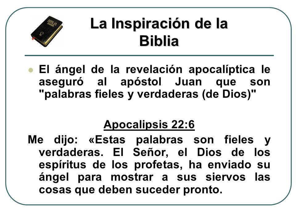 El ángel de la revelación apocalíptica le aseguró al apóstol Juan que son