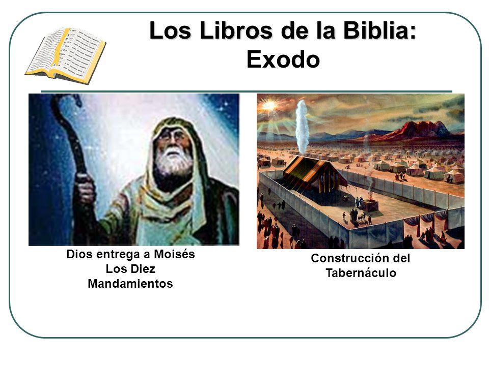 Los Libros de la Biblia: Los Libros de la Biblia: Exodo Dios entrega a Moisés Los Diez Mandamientos Construcción del Tabernáculo
