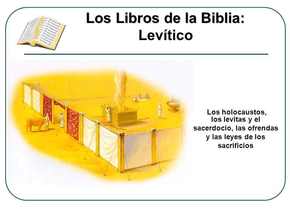 Los Libros de la Biblia: Los Libros de la Biblia: Levítico Los holocaustos, los levitas y el sacerdocio, las ofrendas y las leyes de los sacrificios