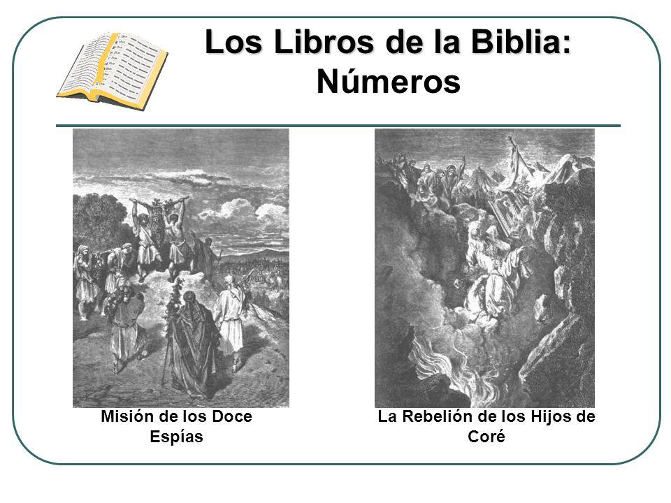 Los Libros de la Biblia: Los Libros de la Biblia: Números La Rebelión de los Hijos de Coré Misión de los Doce Espías