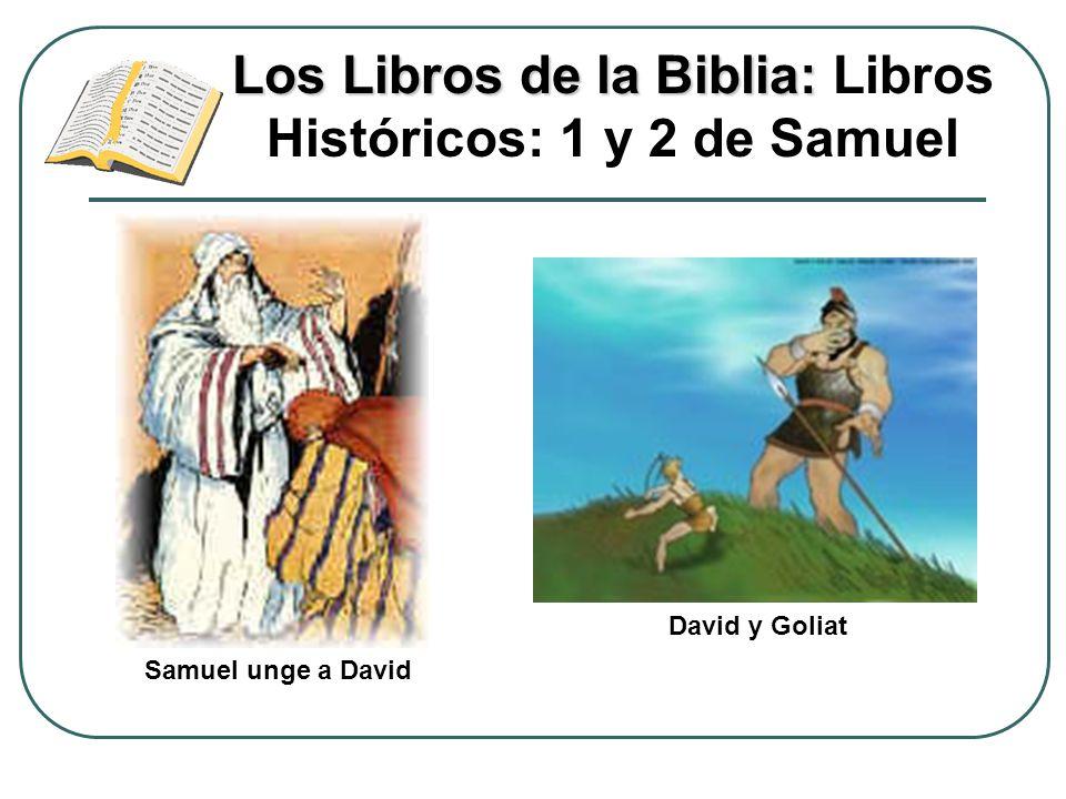Los Libros de la Biblia: Los Libros de la Biblia: Libros Históricos: 1 y 2 de Samuel David y Goliat Samuel unge a David