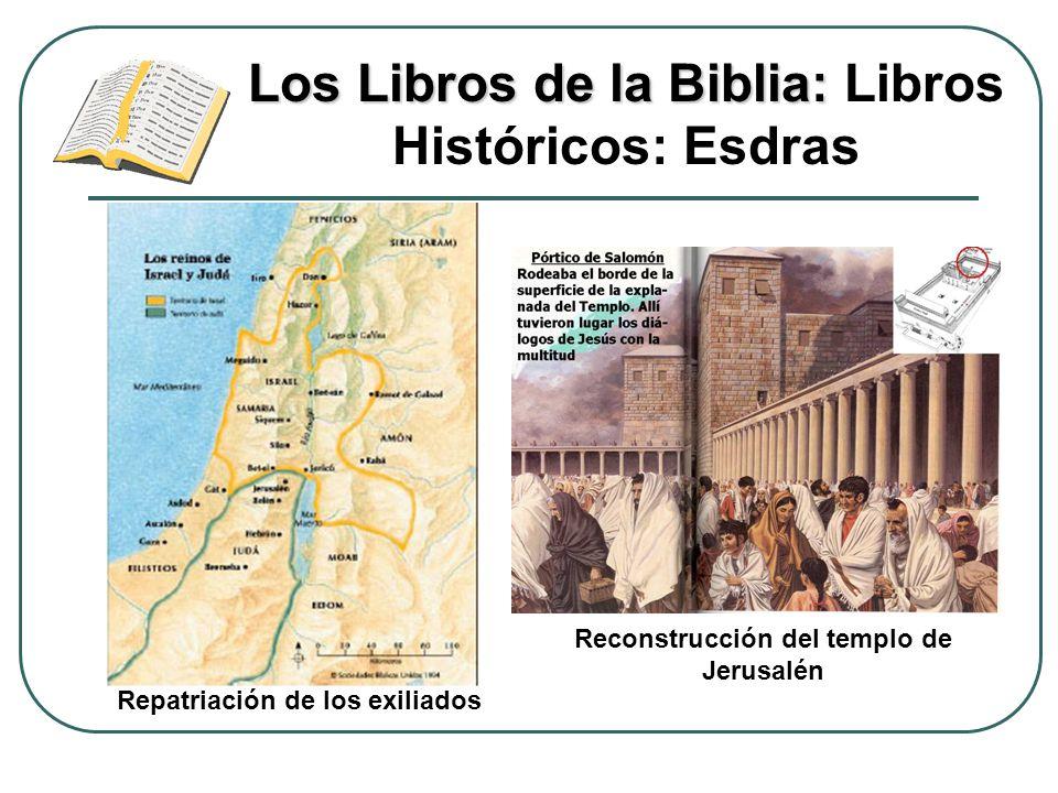 Los Libros de la Biblia: Los Libros de la Biblia: Libros Históricos: Esdras Reconstrucción del templo de Jerusalén Repatriación de los exiliados