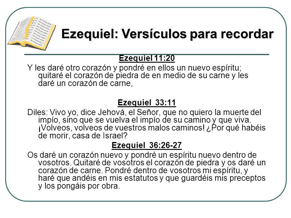 Ezequiel 11:20 Y les daré otro corazón y pondré en ellos un nuevo espíritu; quitaré el corazón de piedra de en medio de su carne y les daré un corazón
