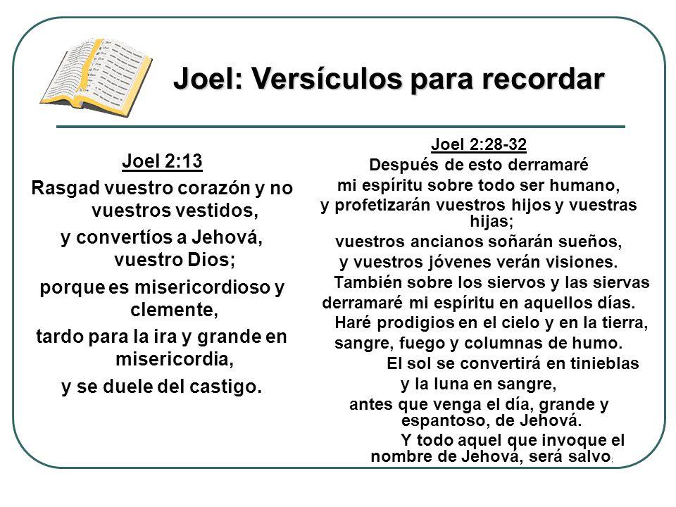 Joel 2:13 Rasgad vuestro corazón y no vuestros vestidos, y convertíos a Jehová, vuestro Dios; porque es misericordioso y clemente, tardo para la ira y