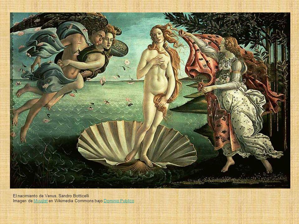 El nacimiento de Venus, Sandro Botticelli Imagen de Mvuijlst en Wikimedia Commons bajo Dominio PublicoMvuijlstDominio Publico