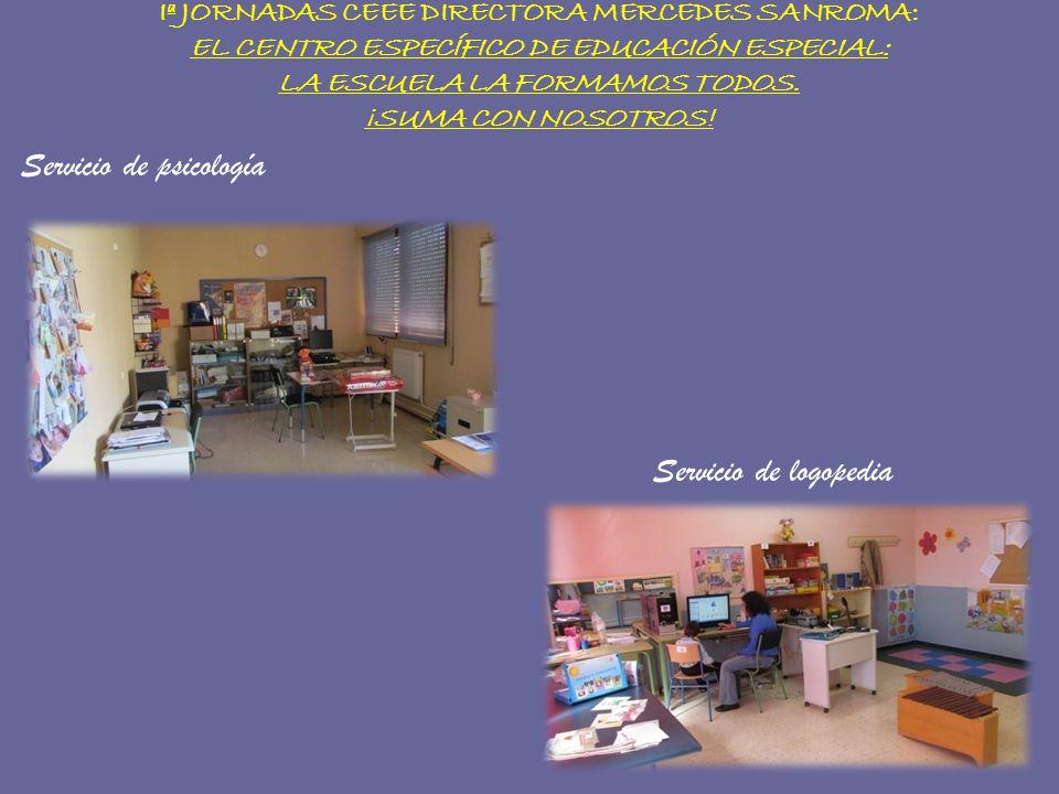 Iª JORNADAS CEEE DIRECTORA MERCEDES SANROMA: EL CENTRO ESPECÍFICO DE EDUCACIÓN ESPECIAL: LA ESCUELA LA FORMAMOS TODOS. ¡SUMA CON NOSOTROS! Servicio de