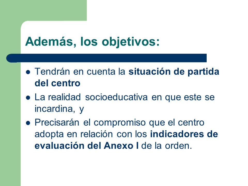 a) Mejora de los rendimientos educativos de su alumnado, teniendo en cuenta la situación de partida de cada centro. b) Contribución al éxito escolar d
