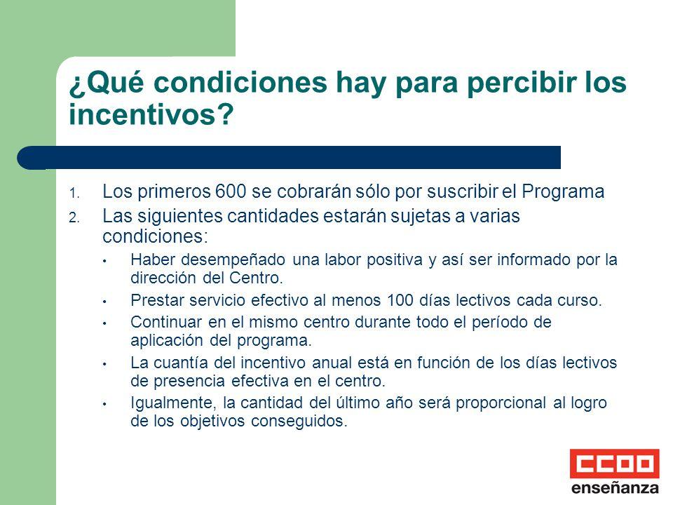 ¿Se consolida algún tipo de incentivo? El 60% de ese último incentivo se consolidará en el complemento específico hasta el momento de la jubilación.