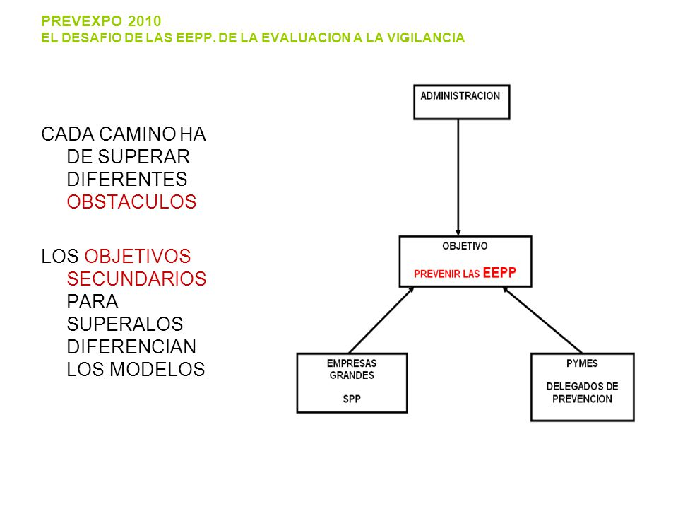 PREVEXPO 2010 EL DESAFIO DE LAS EEPP.