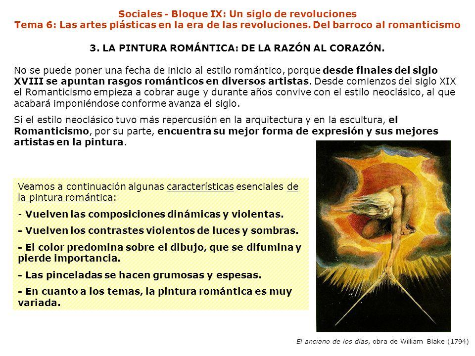 Sociales - Bloque IX: Un siglo de revoluciones Tema 6: Las artes plásticas en la era de las revoluciones.