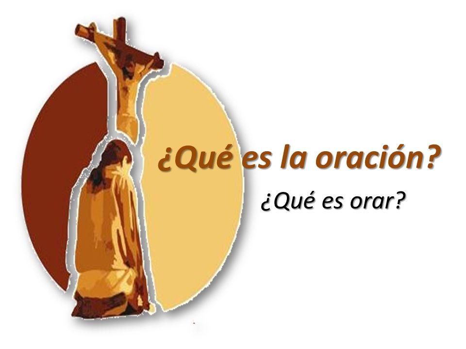 La oración es el acto propio de la criatura racional.