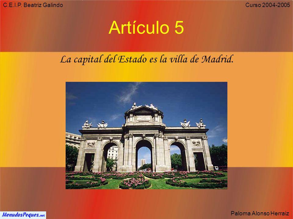 C.E.I.P. Beatriz Galindo Paloma Alonso Herraiz Curso 2004-2005 El Himno El Himno Nacional se encuentra regulado por el Real Decreto 1560/1997 de 10 de