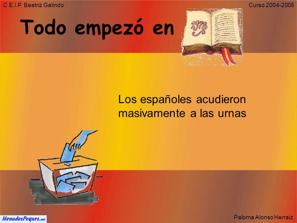 C.E.I.P. Beatriz Galindo Paloma Alonso Herraiz Curso 2004-2005 6 de diciembre ¿Qué celebramos en España?