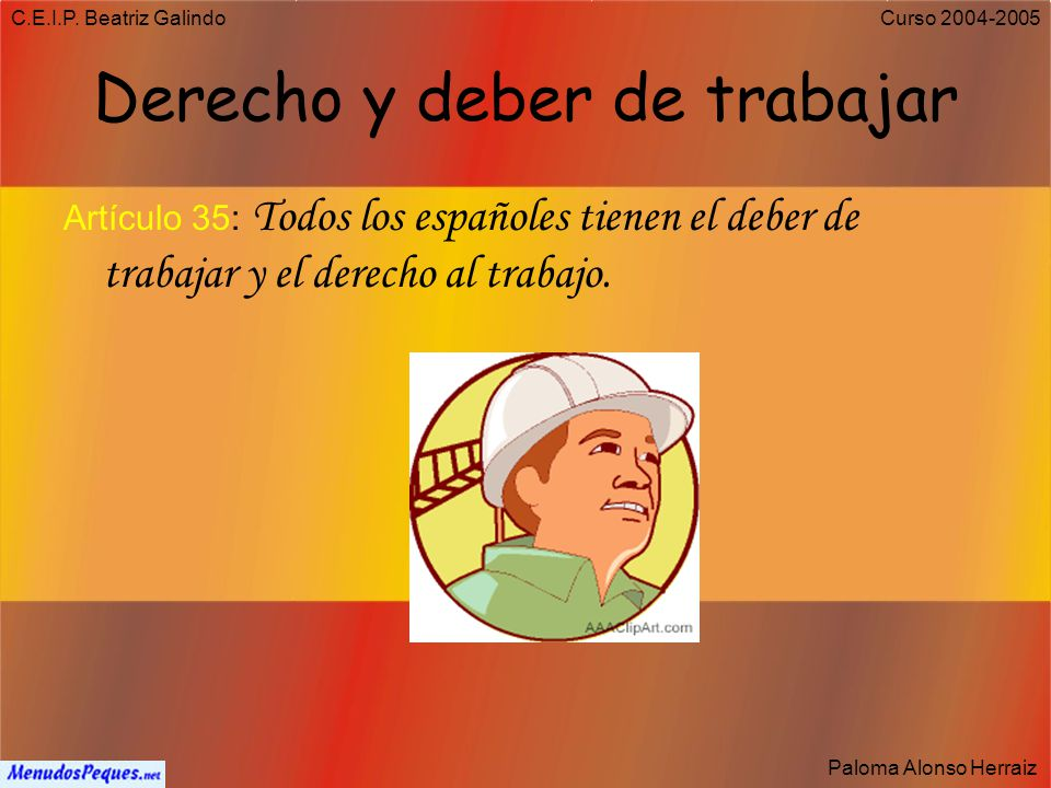 C.E.I.P. Beatriz Galindo Paloma Alonso Herraiz Curso 2004-2005 Derecho a la Educación Artículo 27.1: Todos tienen el derecho a la educación. 27.4: La
