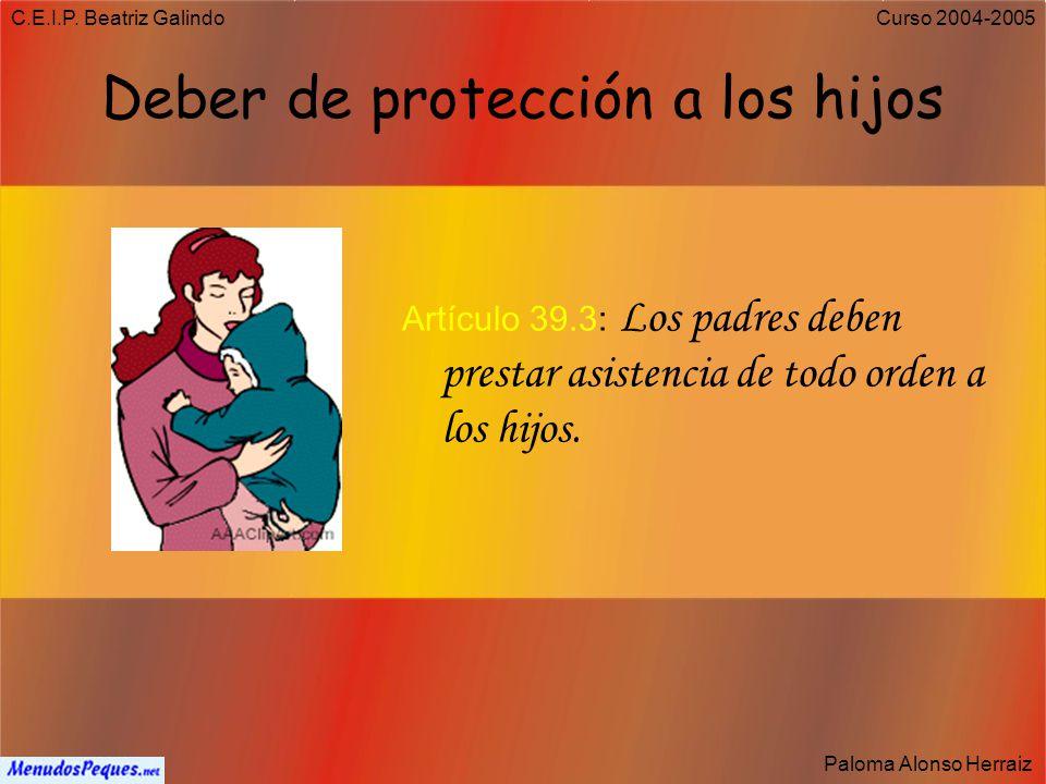C.E.I.P. Beatriz Galindo Paloma Alonso Herraiz Curso 2004-2005 Derecho y deber de trabajar Artículo 35: Todos los españoles tienen el deber de trabaja