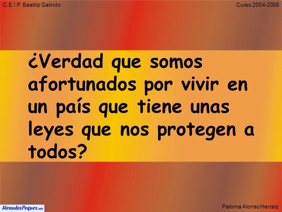 C.E.I.P. Beatriz Galindo Paloma Alonso Herraiz Curso 2004-2005 Derecho a la vivienda Artículo 47: Todos los españoles tienen derecho a disfrutar de un