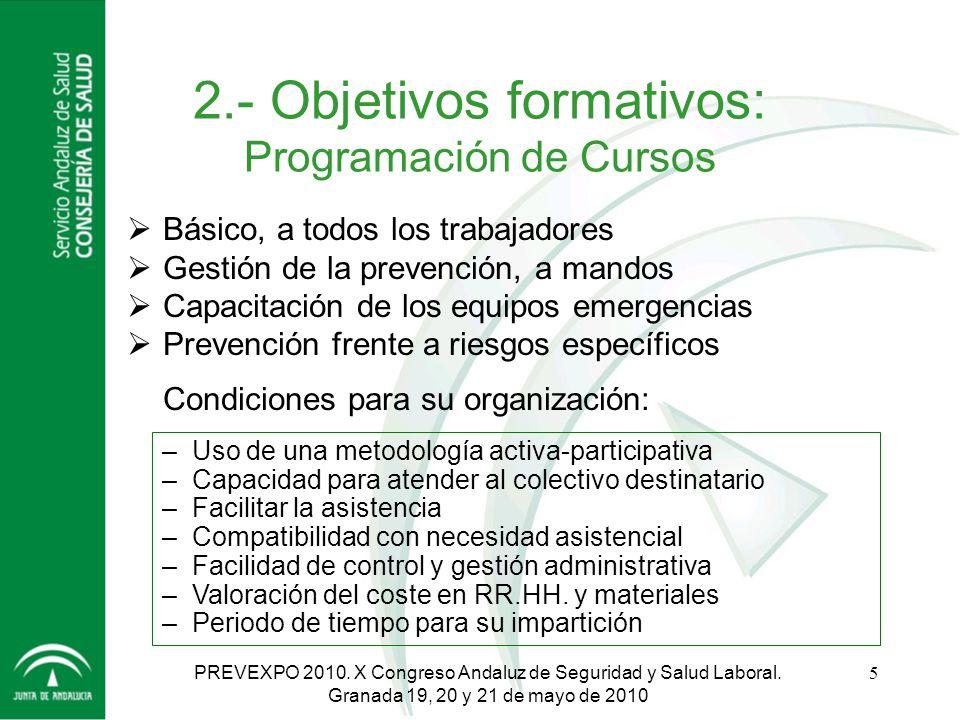 Servicio Andaluz de Salud CONSEJERÍA DE SALUD HOSPITAL UNIVERSITARIO San Cecilio - Granada PREVEXPO 2010.