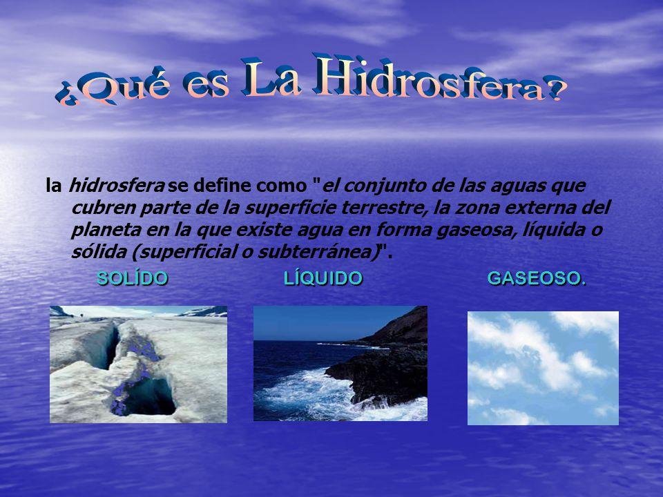 la hidrosfera se define como