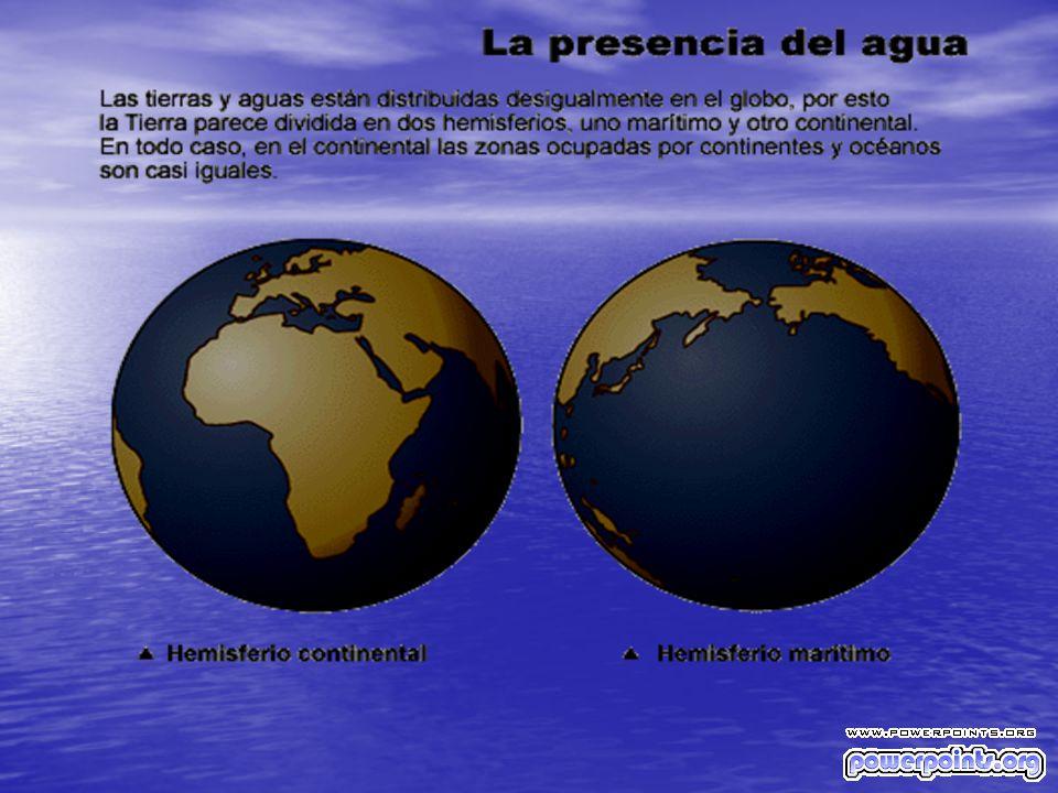 La Tierra tiene una superficie de 510,101 millones de km2, de los cuales 363 millones de km2 están cubiertos por agua, lo que corresponde a alrededor de 71 por ciento del total.