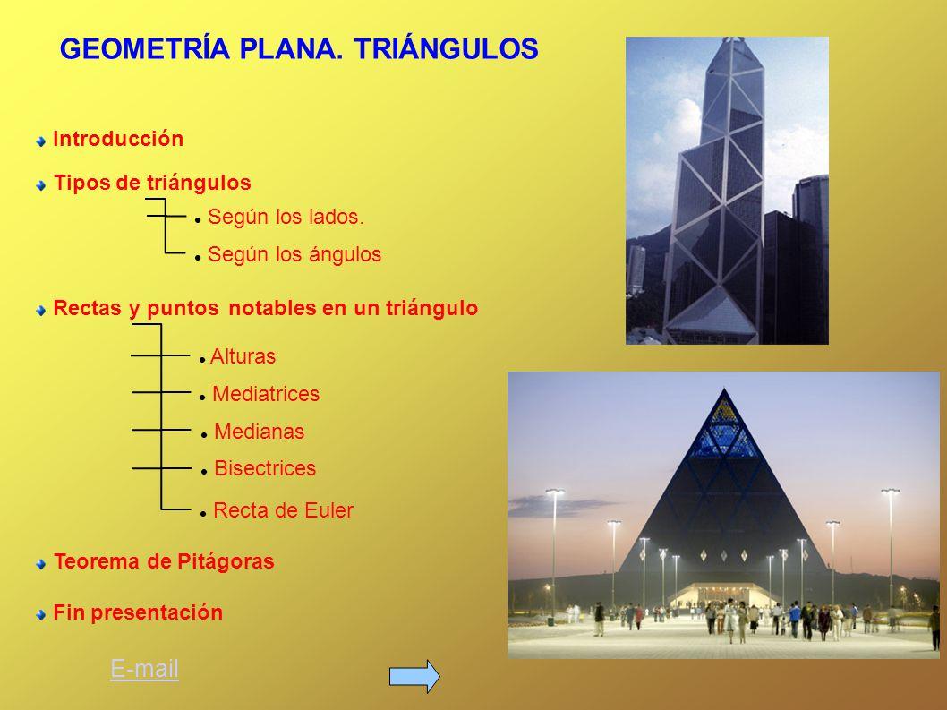 Introducción Tipos de triángulos Según los lados.