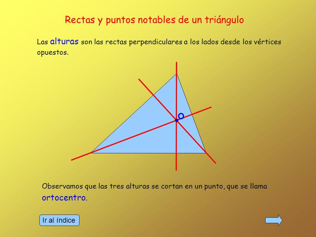 Las mediatrices son las rectas que son perpendiculares a los lados por sus puntos medios.
